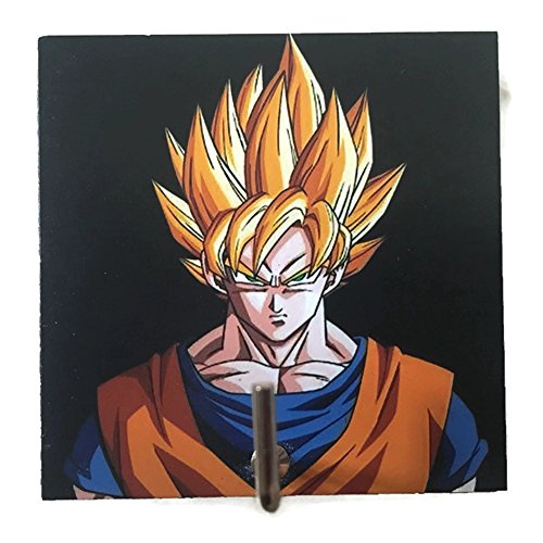 Agility Bathroom Wall Hanger Hat Bag Key Adhesive Wood Hook Vintage Black Super Saiyan Goku Dragon Ball's - Pictures Kamehameha
