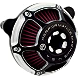 Performance Machine Max HP Contrast Cut Air Cleaner for Harley Davidson 2008-15 - One Size