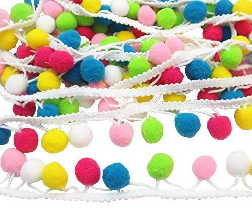 Dandan DIY 4, 6m colorato 15mm pom pom palla frangia nastro per vestiti cucito casa festa di nozze decorazione pizzo nastro Craft supply Yiwu Shi Zhanyue Trading Co. Ltd