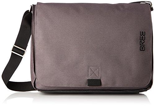 BREE Punch Style 49, Black, Messenger Bag - Borse a spalla Unisex Adulto, Schwarz (Black), 8x28x38 cm (B x H T) Marrone (Slate)