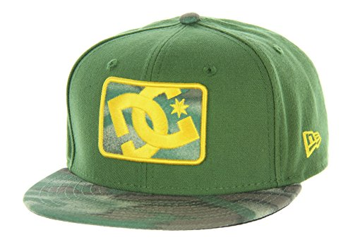 DC Shoes Men's Buzzcut Snapback Hat (OldLace/Olive/Snow/Camo) from DC
