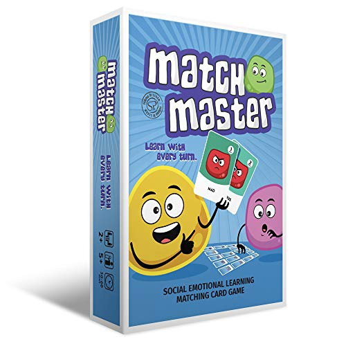Social Emotional Learning Games Match Master | Identify Your Emotions | Improve Emotional Vocabulary | Express Feelings with Words | Great for School & Home Activity