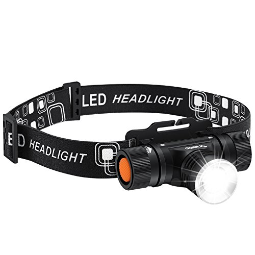 LED Headlamp Flashlight, Snado 1000lm Super Bright rechargeable Headlight Flashlight, Waterproof, 3 Modes Zoomable for Hiking, Camping, Reading, Fishing, Hunting, Outdoor Sports