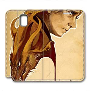JHFHGVH Leather Case for Samsung galaxy Note 3, The Hobbit Stylish Durable Leather Case for Samsung galaxy Note 3