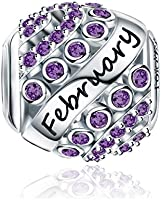 FOREVER QUEEN August Birthstone Charms for Pandora Charms Bracelet- 925 Sterling Silver Bead Openwork Charms, Happy...