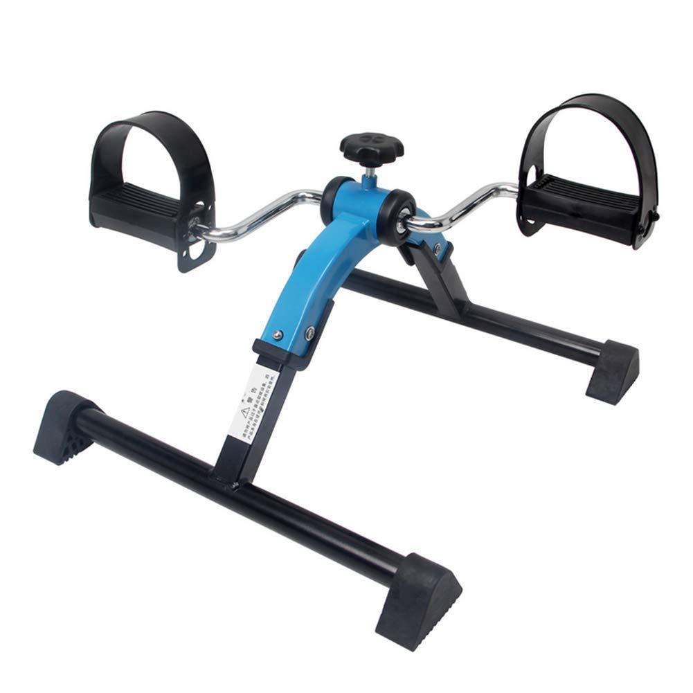 RXRENXIA Pedal-Übung, Mini-Klapppedaltrainer Aerobic Übung für Leg und Arm-Fitnesstraining mit LCD-Display und Adjustable Resistance