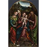 Oil painting 'Bernardino Lanino The Madonna and Child with Saints ' printing on high quality polyster Canvas , 8 x 12 inch / 20 x 31 cm ,the best Wall art gallery art and Home decor and Gifts is this Best Price Art Decorative Canvas Prints