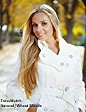 "TRESSMATCH 20"" Remy (Remi) Human Hair Clip in Extensions Wheat/Medium/Natural Blonde (Color #16) 10 Pieces(pcs) Thick to Ends Full Head Luxury Set [Weight: 5.3oz/150grams] …"