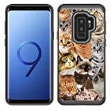 Corpcase - Hybrid Case for Galaxy S9 Plus - The Cat Collage Cats / Unique Case With Great Protection