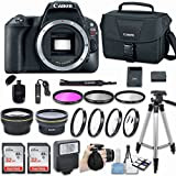 Canon EOS Rebel SL2 DSLR Camera (Body Only) with Bundle - Includes 58mm HD Wide Angle Lens + 2.2x Telephoto + 2Pcs 32GB Sandisk SD Memory + Filter & Macro Kit & More Accessories