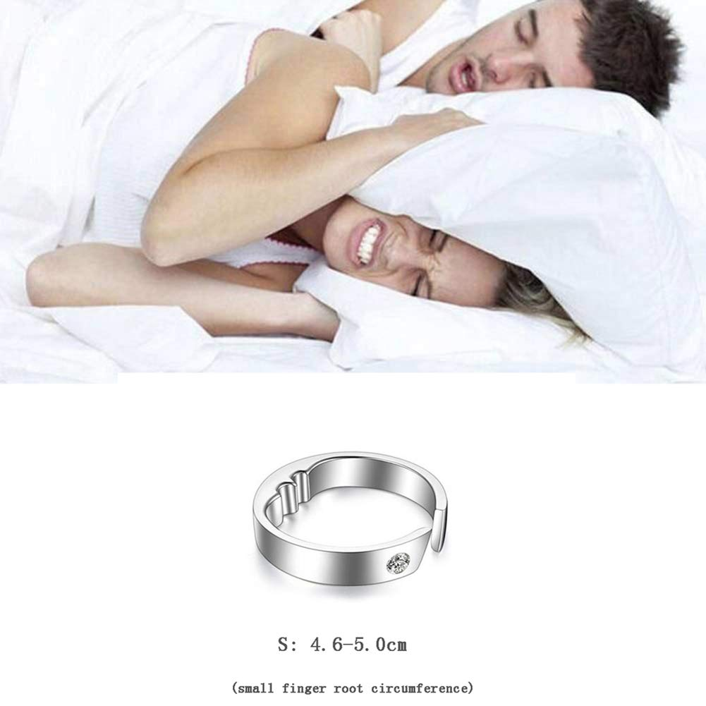 Anti-snoring Device Acupressure Massage Anti-snoring Ring Assisted Sleep 3 Sizes Suitable for All,S