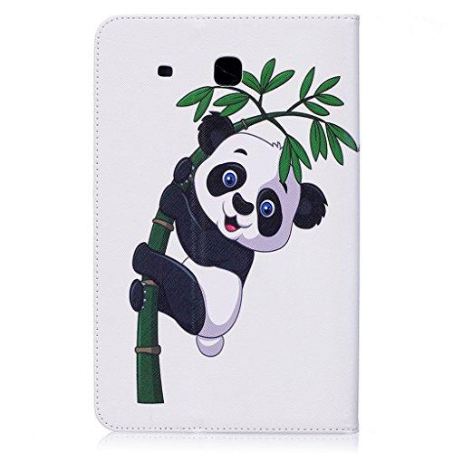 Trumpshop Smartphone Carcasa Funda Protección para Samsung Galaxy Tab A 10.1 Pulgadas (T580) + Dont Touch Me (Sorcerer) + PU Cuero Caja Protector Billetera Choque Absorción Gongfu Panda