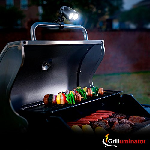 Grilluminator Authentic BBQ Grill Light-Ultra Bright Handle Mount LE, Black