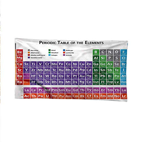 Schoolspace tapestrywall Hanging tapestryPeriodic Table Elements 91W x 60L Inch