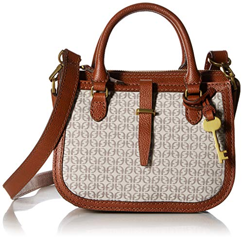 Fossil Ryder Mini Satchel Bag,Taupe/Tan