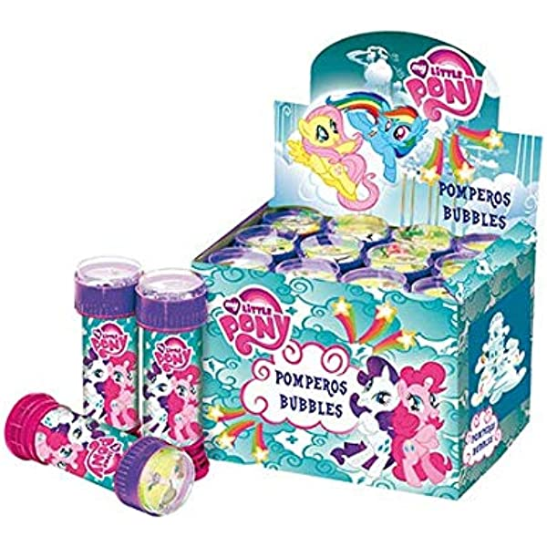 SUPERBOOM - Caja Pomperos de Burbujas de Jabón de My Little Pony - 12 Unidades de 60 ml: Amazon.es: Juguetes y juegos