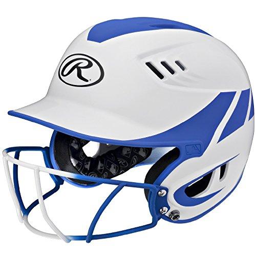 Rawlings Sporting Goods Senior Velo Sized Softball Helmet, White - Senior Batting Helmet
