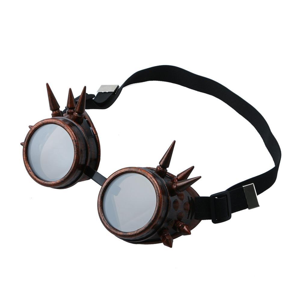 A Anti-Polvo Anti-Viento Anti-Niebla Gafas de Protecci/ón Vovotrade Seguridad Vendimia Steampunk Soldadura Ciber Punk Escenario Espect/áculo al aire libre de Sol Deportivo
