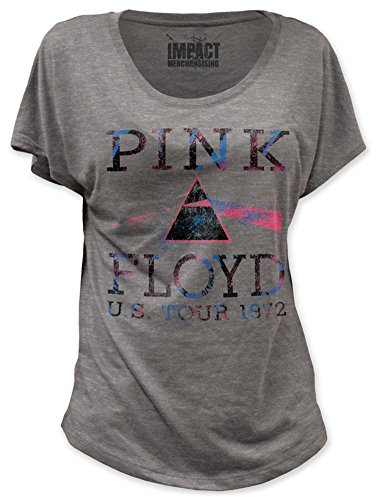 (Impact Pink Floyd U.S. Tour 1972 ladies dolman shirt-Heather-X-Large)