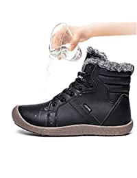 Unisex Ankle Snow Boots Winter Shoes Warm Fur Lining Outdoor Waterproof Sneakers