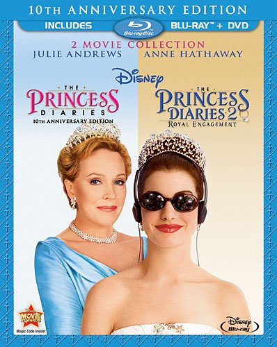 The Princess Diaries: Two-Movie Collection (Three-Disc Combo Blu-ray/DVD Combo in Blu-ray Packaging) (Blue Princess Disney Ray Movies)