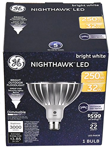 Nighthawk GE LED Bright White Outdoor Floodlight 3000 Lumens (1 Bulb per (Par38 Package)