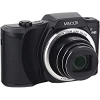 Minolta 20 Mega Pixels Wi-Fi Digital Camera with 22x Optical Zoom, 1080p HD Video & 3 LCD, Black (MN22Z-BK)