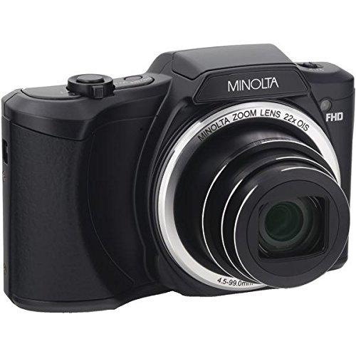 Minolta 20 Mega Pixels Wi-Fi Digital Camera with 22x Optical Zoom, 1080p HD Video & 3