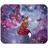 Cool Art Design Beautiful Galaxy Fox Rectangle Mouse pad Gaming Mousepad