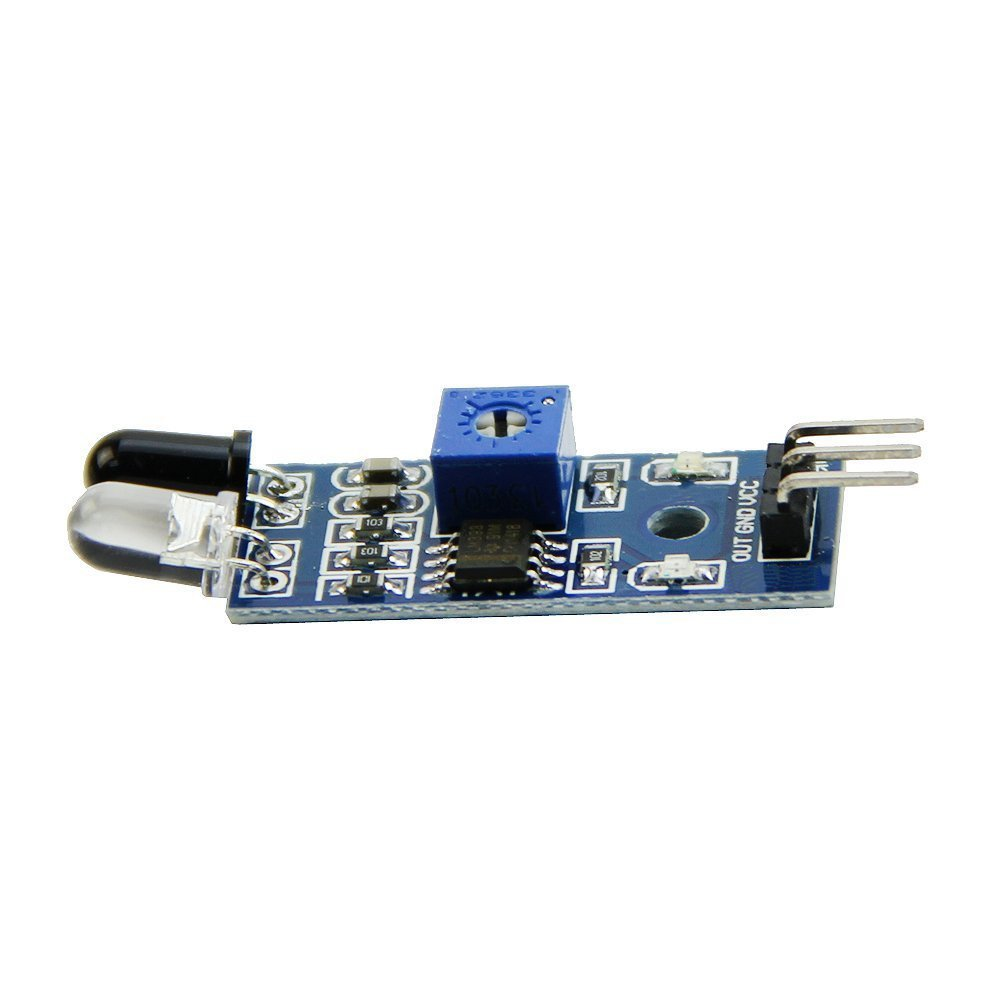 Osoyoo 10pcs Ir Infrared Obstacle Avoidance Sensor Proximity Switch Circuit Using A Lm393 Voltage Module For Arduino Smart Car Robot Computers Accessories
