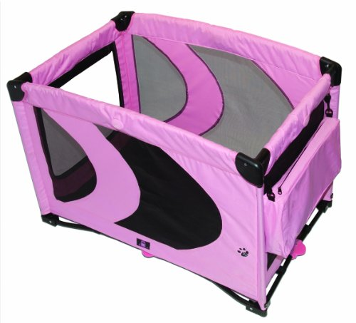 Pet Gear Home 'N Go Pet Pen for cats and dogs up to 30-pounds, Pink Ice, My Pet Supplies
