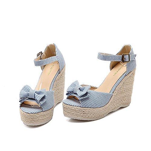 Women's Sandali In Alti Tacchi Agoolar Con Buckle Raso Toe Assortiti Blu Open Colori 4fxdqR