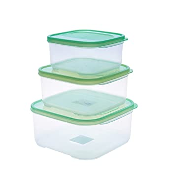 Amazoncom Plastic Food Storage Containers Transparent Sealed Tank