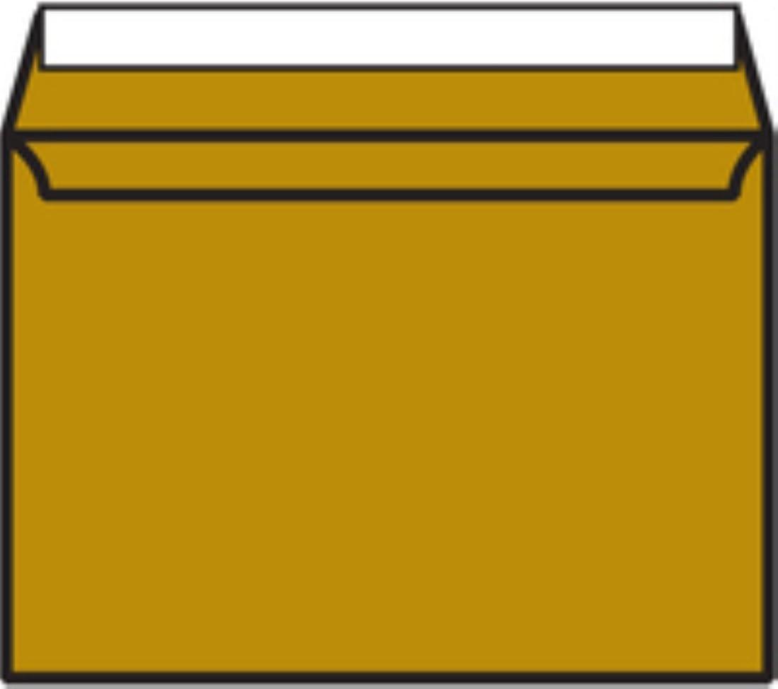 Pack of 250 Metallic Gold Blake C5 130gsm Peel and Seal Wallet Envelope