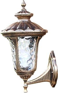 Apliques De Exterior Vintage Lámpara De Pared Jardín Jardín Loto, Iluminación De Pared Villa Iluminación Exterior: Amazon.es: Bricolaje y herramientas