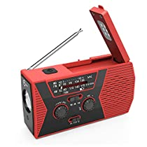 [New Version] Esky Solar Crank NOAA Weather Radio for Emergency with AM/FM, Flashlight, Reading Lamp and 2000mAh PowerBank