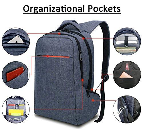 Norsens Bolsos para Hombres Mochila Ordenador Portatil 15.6 Mochilas para Ordenador Mochila Laptop Morral para Portatil Azul oscuro