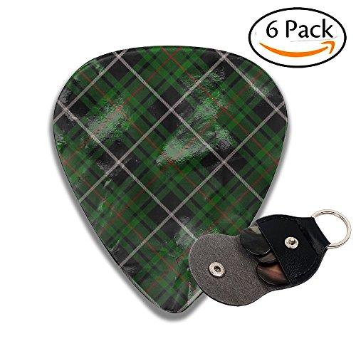 Cool Light Tartans Plaid Pattern Celluloid Guitar Accessories/parts Bass Guitar Picks 0.46mm 0.71mm 0.96mm Kids 6 Packs ()
