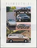 1991 Plymouth sales brochure Acclaim Sundance Voyager Laser Colt Vista