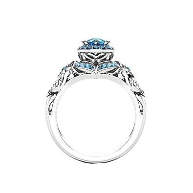 Luxury Wedding Rings | Amazon Com Wintefei Royal Style Shiny Rhinestone Flower Finger Ring