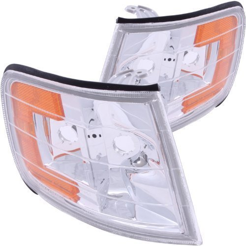 Anzo USA 521028 Honda Accord Clear Euro Clear With Amber Reflectors Corner Light Assembly - (Sold in Pairs) by AnzoUSA Honda Accord Euro Clear Corner