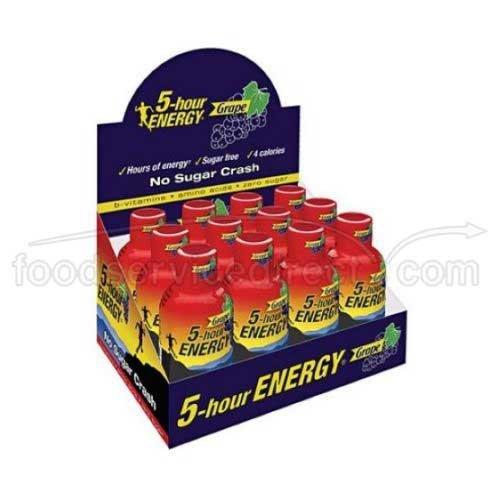 5 Hour Energy Original Grape Energy Shot, 1.93 Fluid Ounce - 12 per pack -- 4 packs per case. by 5 Hour Energy