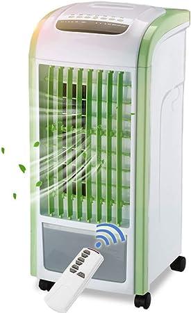 Opinión sobre WUFENG Aire Acondicionado Portátil Móvil Tipo Vertical Ventilador Eléctrico Silencioso Bajo Ruido Consumo De Energía 60W, Verde, 25 X 28.5 X 57CM