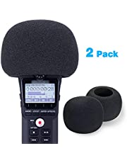 SUNMON Windscreen Foam for Zoom H1n & H1 Recorder, Windshield Pop Filter Fits Zoom H1n Handy Portable Recorder (2 PCS)