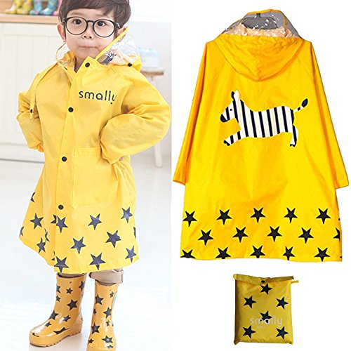 Kid Rain Coat ,Cartoon Waterproof Children's Raincoat Lig...