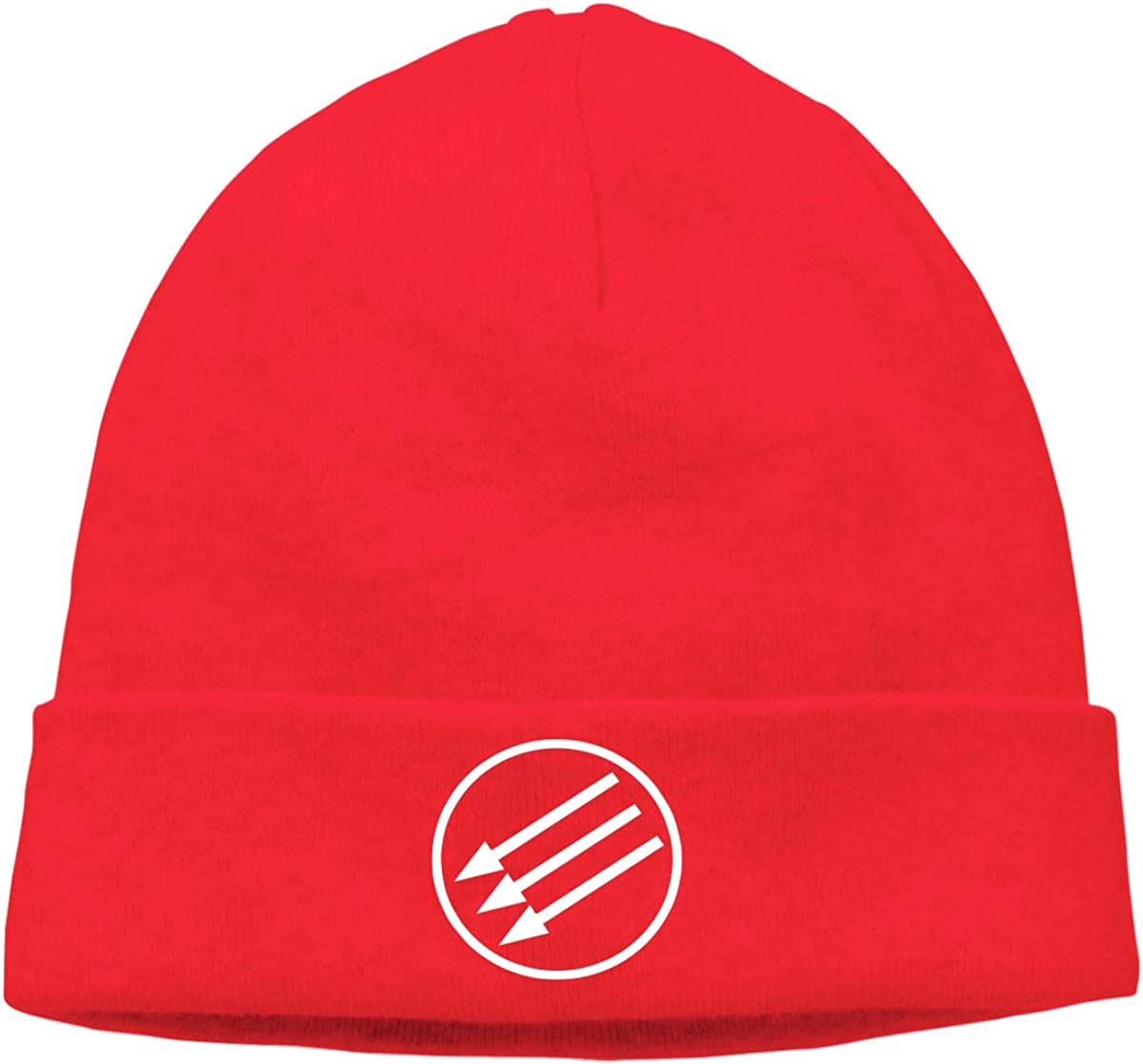Men Women White Circle Arrows Soft Knit Hats