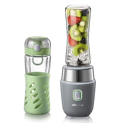 Juicer portátil Licuadora Mini Exprimidor doméstico Quick Juice Cup Copa Doble de Cristal