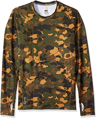 Duofold Men's Brushed Back Crew, Tawny Brown Faster Asteroid Camo, L ()