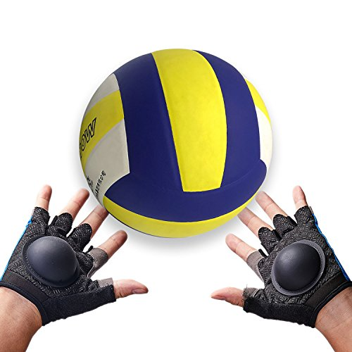 (Volleyball Setter Training Gloves - Perfect Training Aid to Teach Proper Setting Technique - No Flat Hands )