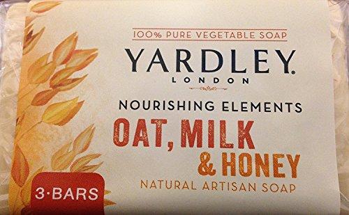 (Yardley London Nourishing Elements Oat, Milk & Honey Natural Artisan Soap, 10.5 OZ)